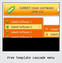 Free Template Cascade Menu