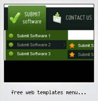 Free Web Templates Menu Horizontal Submenu Css