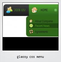 Glassy Css Menu