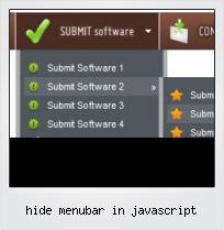 Hide Menubar In Javascript