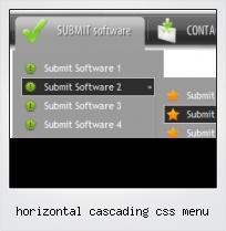 Horizontal Cascading Css Menu