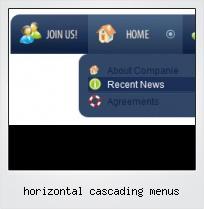 Horizontal Cascading Menus