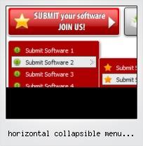 Horizontal Collapsible Menu Javascript
