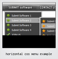 Horizontal Css Menu Example