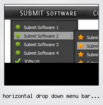Horizontal Drop Down Menu Bar Javascript