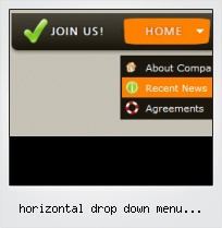 Horizontal Drop Down Menu Transparent