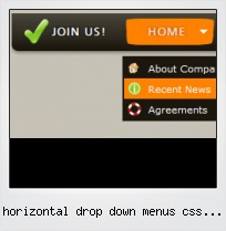 Horizontal Drop Down Menus Css Template