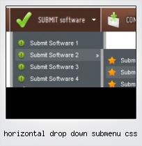 Horizontal Drop Down Submenu Css