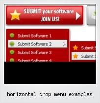 Horizontal Drop Menu Examples