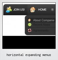 Horizontal Expanding Menus