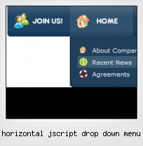 Horizontal Jscript Drop Down Menu