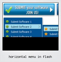 Horizontal Menu In Flash