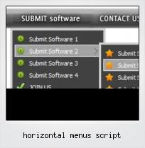 Horizontal Menus Script