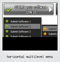 Horizontal Multilevel Menu