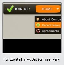 Horizontal Navigation Css Menu
