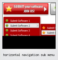 Horizontal Navigation Sub Menu