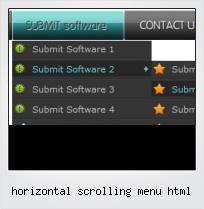 Horizontal Scrolling Menu Html
