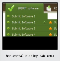 Horizontal Sliding Tab Menu