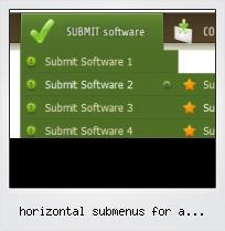 Horizontal Submenus For A Horizontal Navbar