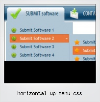 Horizontal Up Menu Css