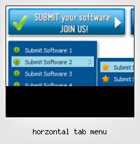 Horzontal Tab Menu