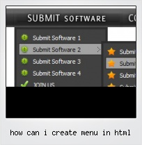 How Can I Create Menu In Html