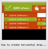 How To Create Horizontal Drop Down Menu