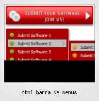 Html Barra De Menus
