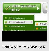 Html Code For Drag Drop Menus