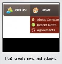 Html Create Menu And Submenu