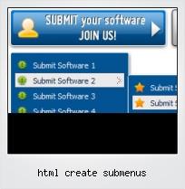 Html Create Submenus