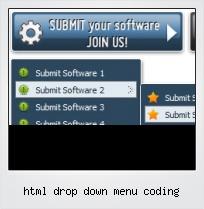 Html Drop Down Menu Coding