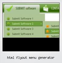 Html Flyout Menu Generator