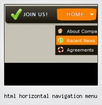 Html Horizontal Navigation Menu