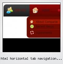 Html Horizontal Tab Navigation Menu