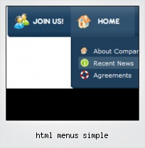 Html Menus Simple