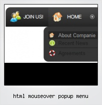 Html Mouseover Popup Menu