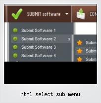 Html Select Sub Menu