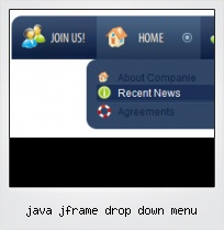 Java Jframe Drop Down Menu