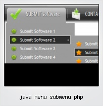 Java Menu Submenu Php