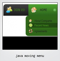 Java Moving Menu