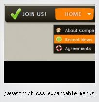 Javascript Css Expandable Menus