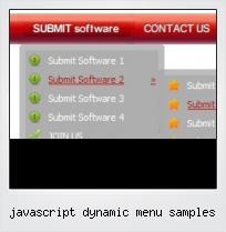 Javascript Dynamic Menu Samples