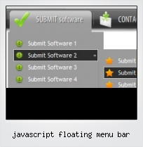 Javascript Floating Menu Bar