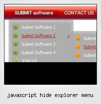 Javascript Hide Explorer Menu