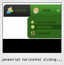 Javascript Horizontal Sliding Menus