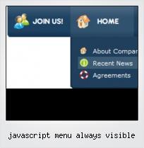 Javascript Menu Always Visible
