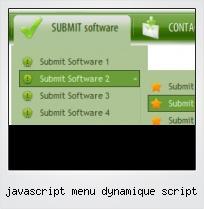 Javascript Menu Dynamique Script