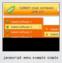 Javascript Menu Example Simple