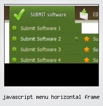 Javascript Menu Horizontal Frame